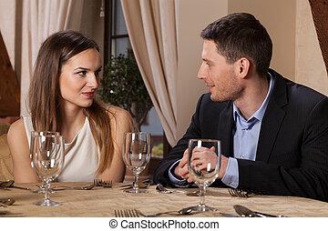 恋人, レストラン