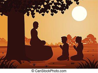 恋人, 信頼, 仏教, 給料, 敬意, politely, 信じなさい, 修道士