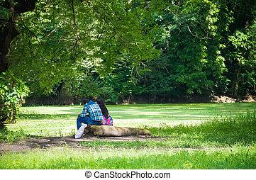 恋人, 公園, モデル