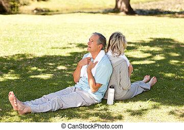 恋人, 公園, ∥(彼・それ)ら∥, streches, 後で