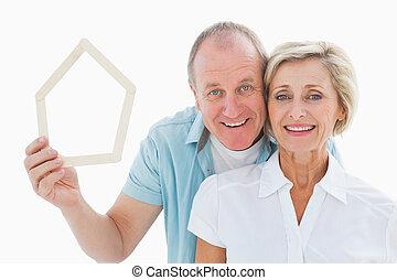 恋人, 家, 保有物, より古い, sh, 幸せ