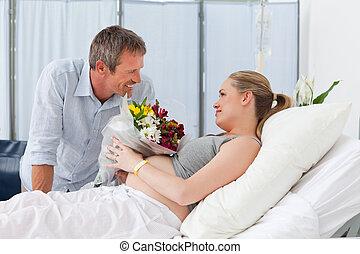 恋人, 愛らしい, 病室
