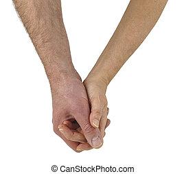 恋人, 慎重に, 成長した, 手を持つ