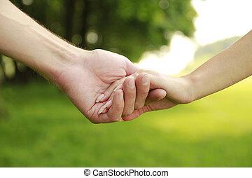 恋人, 手, 愛, 2, 自然