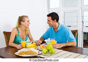 恋人, 持つこと, 朝食
