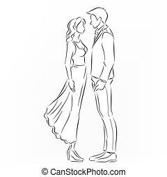 恋人, 接吻, ロマンチック, ほしい