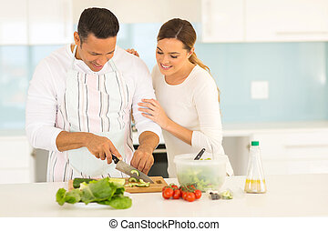 恋人, 料理, 一緒に