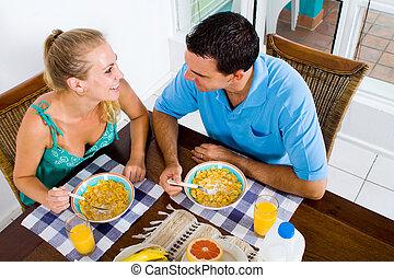 恋人, 朝食
