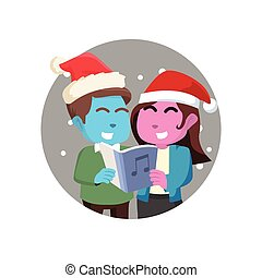 恋人, 歌うこと, クリスマス, 歌