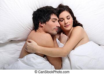 恋人, 眠ったままで, ベッド
