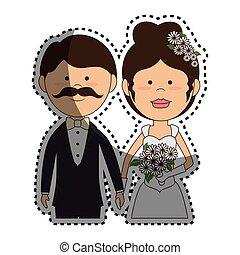 恋人, 結婚されている, 特徴, ただ, カード
