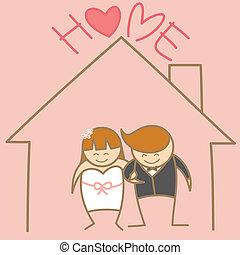 恋人, 結婚されている, 特徴, 漫画, ただ
