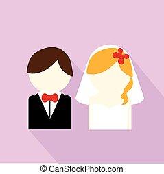 恋人, 結婚式, アイコン