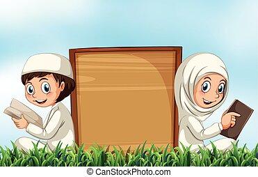 恋人, 聖書, 草, 読書, muslim