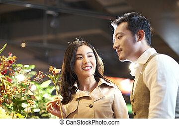 恋人, 花, アジア人, 購入