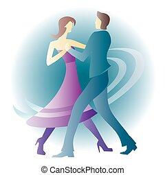 恋人, 若い, ダンス