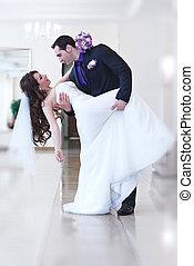恋人, 若い, 結婚式