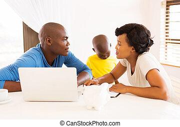 恋人, 財政, 若い 家族, アフリカ