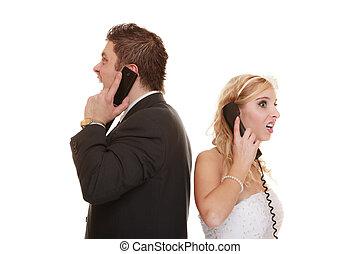 恋人, 関係, difficulties., 結婚式