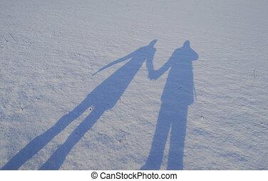 恋人, 雪