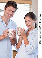 恋人, 飲む茶, 肖像画