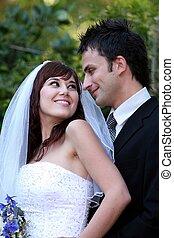 恋人, 魅力的, 結婚式