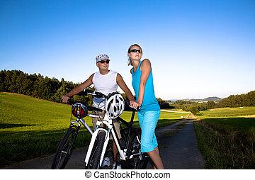 恋人, biking