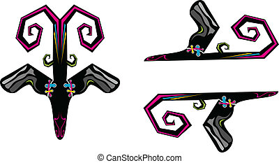 恐い, 抽象的, 翼, カラフルである