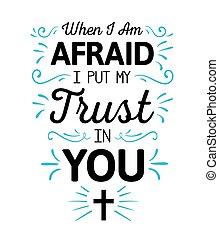 恐れている, いつか, 置かれた, ∥i∥ある∥, 信頼, 私, あなた