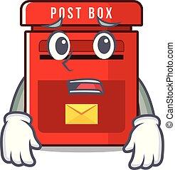 恐れている, メールボックス, ベクトル, マスコット