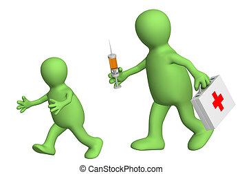 恐れ, の, ワクチン接種