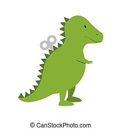 恐竜, おもちゃ, 子供