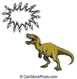 恐竜, イメージ, 漫画