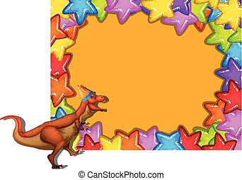 恐竜, カラフルである, ボーダー