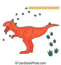 恐竜, ベクトル, 漫画, イラスト