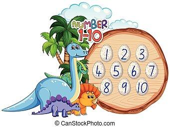 恐竜, 主題, 数, 10