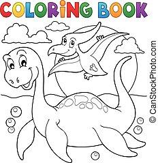 恐竜, 主題, 着色 本, 7