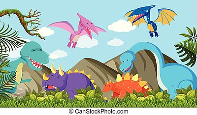 恐竜, 別, 種類, 自然