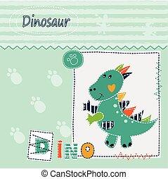 恐竜, 子供, 背景, かわいい
