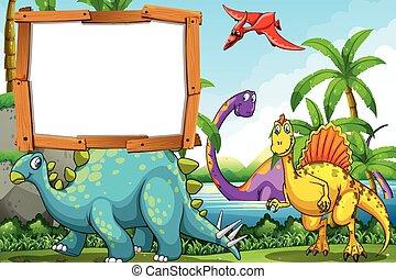 恐竜, 湖