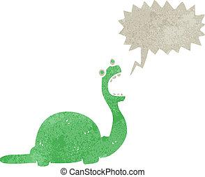恐竜, 漫画, スピーチ, レトロ, 泡