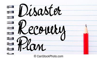 恢復, 寫, drp, 計劃, 筆記本, 災禍