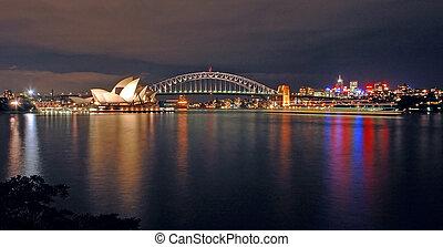 悉尼, 夜晚, 地平线