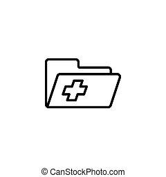 患者, 医学的记录, 背景, 文件夹, 图标, 白色, 历史