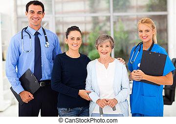 患者, 彼女, 労働者, 健康, 娘, シニア