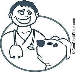 患者, 犬, 医者
