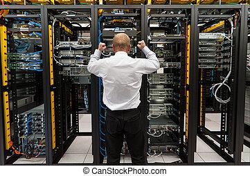 悩み, 中に, datacenter