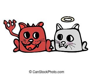 悪魔, そして, 天使