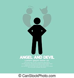 悪魔, シンボル。, 天使