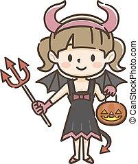 悪魔, ハロウィーンの衣装, 子供